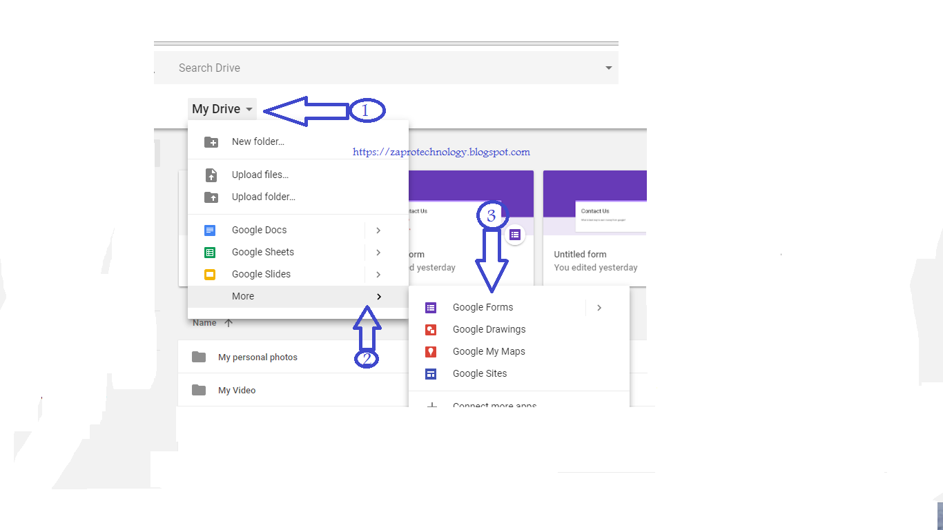 How To Make Contact Us Page For Blog Or Website Using Google Drive
