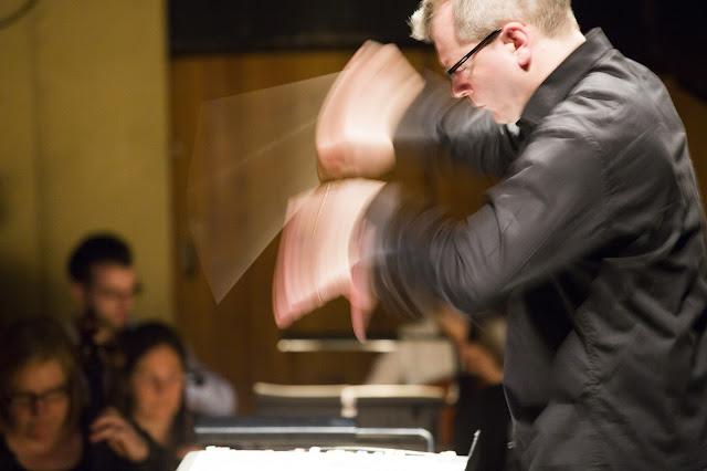 Music Director Stuart Stratford conducting Rusalka. Scottish Opera 2016. Credit James Glossop