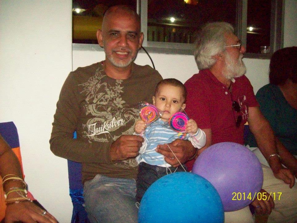 Fabian con el Tío y el Abuelo
