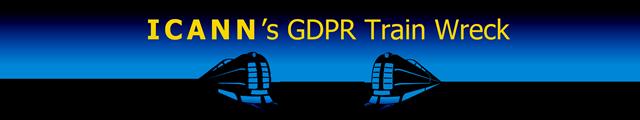 ICANN's GDPR Train Wreck  ©2018 DomainMondo.com (graphic)