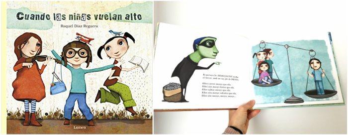 cuentos y libros infantiles juveniles para +8, 12 años cuando las niñas vuelan alto raquel diaz