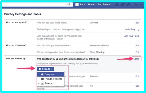 how to change privacy settings on facebook page