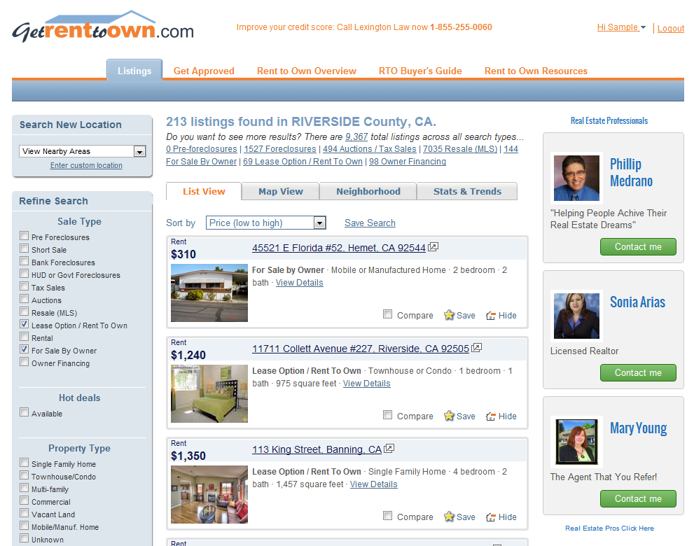 Angie's Reviews: GetRentToOwn com: Find lease options online