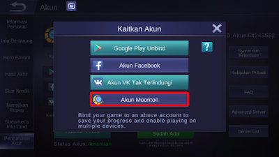 Cara Membuat Akun Moonton dan Mengaitkannya di Mobile Legends