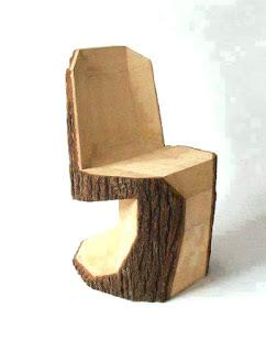 model desain kursi unik dari batang kayu
