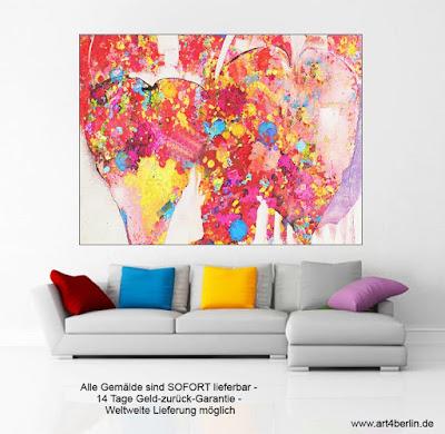 großformatige abstrakte Gemälde