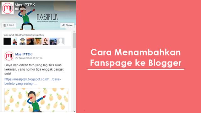 Menambahkan Facebook Like Box / Fanspage ke Blogger