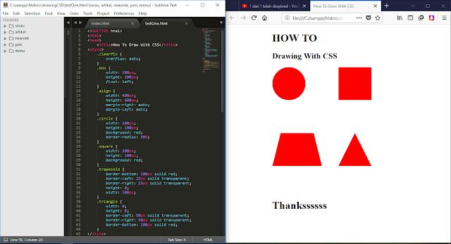 """Cara Menggambar Bentuk """"Shape"""" Dengan CSS HTML"""