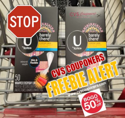 FREE Kotex Liners or pads  CVS Deal