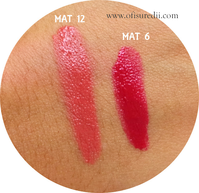 swatch maybelline mat 6 mat 12