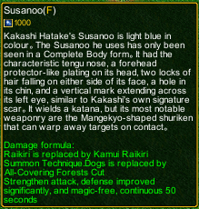 naruto castle defense 6.2 Kakashi Susano detail