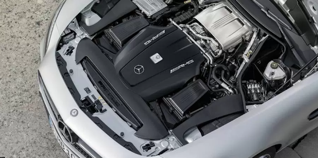 2018 Mercedes Benz AMG GT S Coupe Engine
