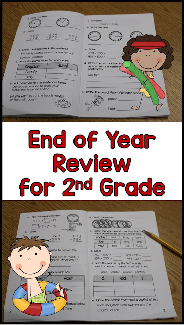 end of year review for second grade