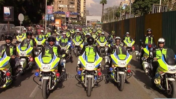 بالصور.. انتشار قوات المرور السريع بالجيزة