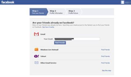 how to setup a facebook account