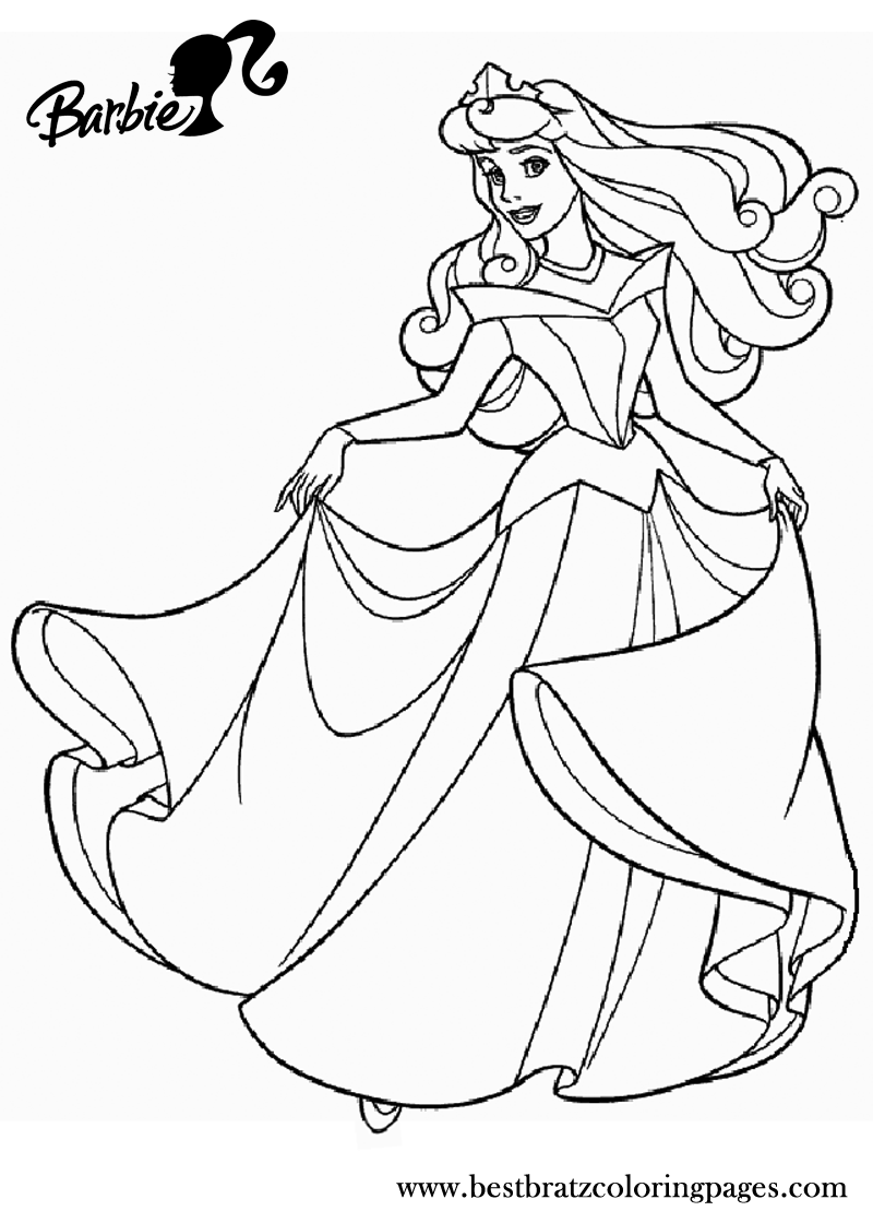 Barbie Princess Coloring Pages Tomas Tanaka