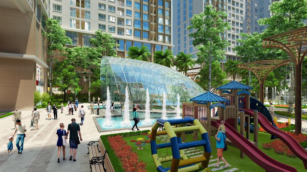 Khuôn viên dự án chung cư Eco Green City