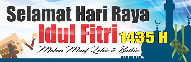 Banner, Spanduk, Baleho hari raya Lebaran Idul Fitri 1440