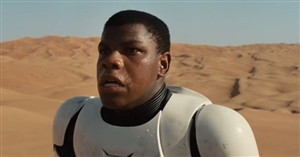 Star Wars Finn looking the way my brother does when I tell him to eat healthy food.