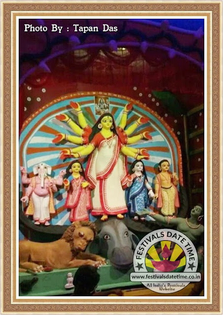 2016 Kolkata Durga Murti Photo in West Bengal