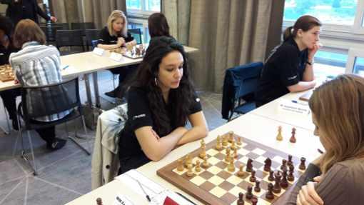 L'exploit de la ronde 2 est à mettre à l'actif de Fiona Steil-Antoni - Photo © Chess & Strategy