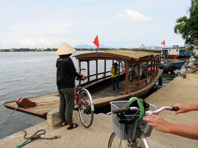 Bicycle ferry near Hoi An Vietnam