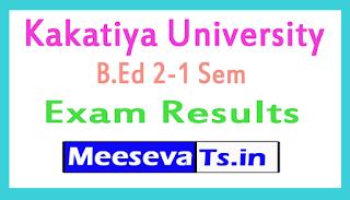 Kakatiya University B.Ed 2-1 Sem Exam Results