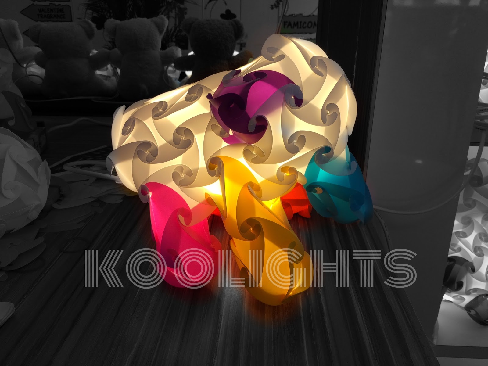 koolights, koolights korea, luvalamp,table lamp, iq lamp, iq light, jigsaw lamp, jigsaw light, puzzle lamp, puzzle light, handmade lights, lamps, night lamp, lampshades, night light, DIY, lights, christmas gifts, cool gifts, gifts, corporate, mrlampshop, rainbow colors, franchise, distributor, eco friendly, plastic bottle puncher, recycle, upcycle, reuse plastic, led, handicraft, hand made, creative, rainbow, red, pink, orange, yellow, green, purple, white, black, pp, plastic, change shapes, assemble, DIY, do it yourself, elephant, cute, wildlife