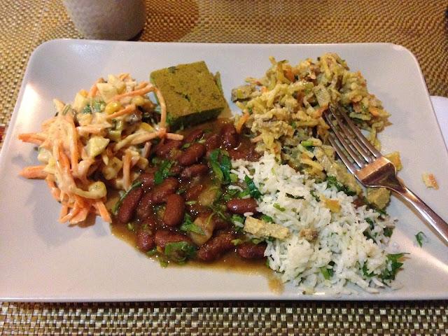 almoço no restaurante Jardim dos Sentidos