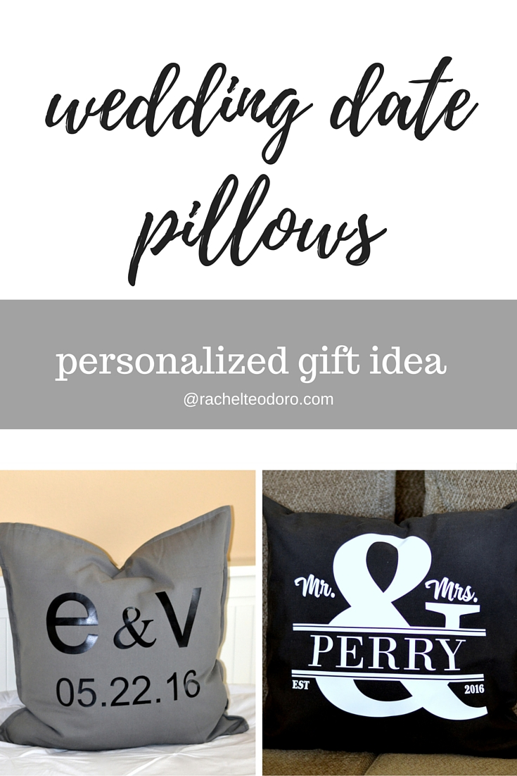 Wedding Date Pillows A Personalized Gift Idea Using The Silhouette Cameo And Experssions Heat Transfer