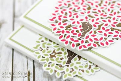 stampinup Wald der Worte; Geschenke Stampinup; Dankeschön Kunden; Kellnerblockverpackung; Kellnerblock basteln; Verpackung mit Baum; stampinup Blog