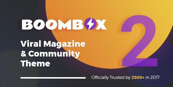 تحميل نسخة الأخيرة BoomBox v2.1.4  أفضل قالب فيرل وردبرس - مجاناً