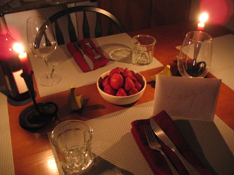 romantic dinner table setting ideas Quotes