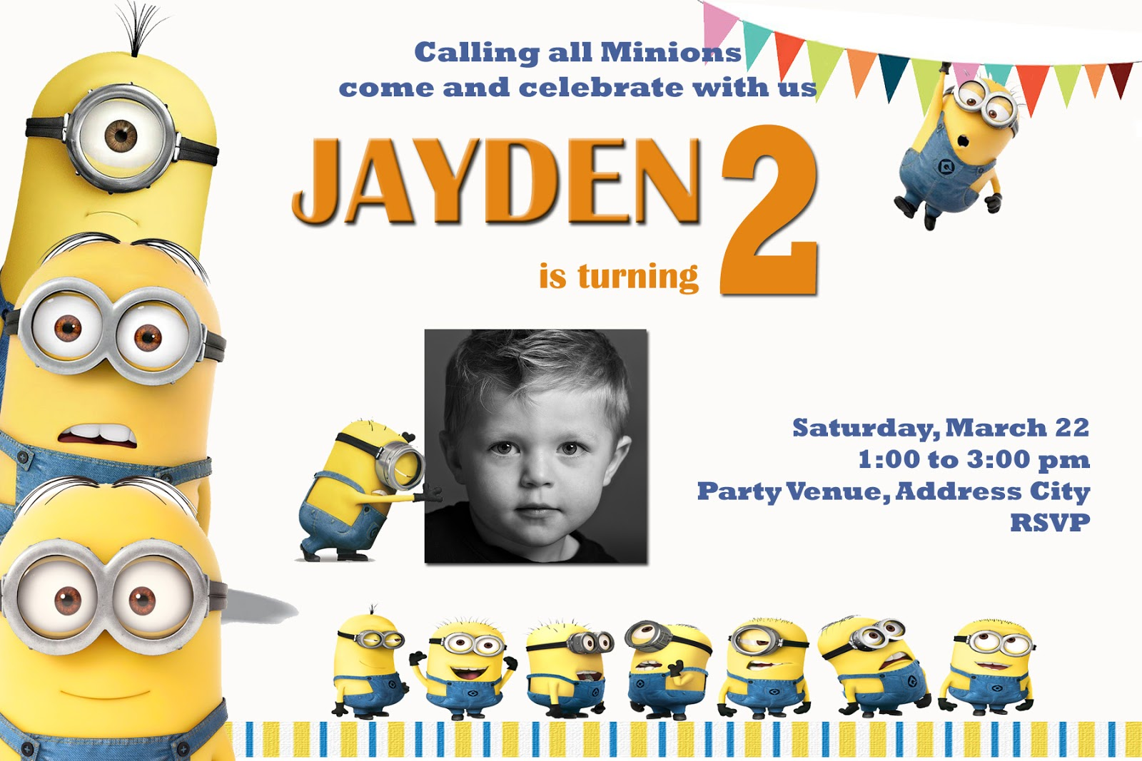 Moms kiddie party link minions party invites sample stopboris Image collections