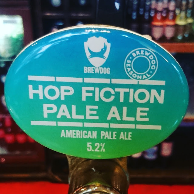 Edinburgh Craft Beer Review: Hop Fiction from BrewDog real ale pump clip
