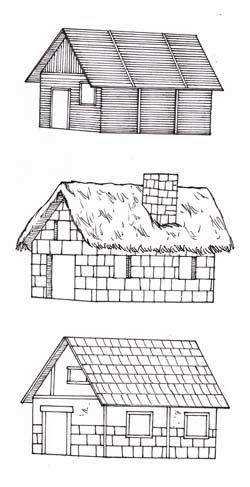 Casa De Adobe Para Colorear Casas Con Pergolas De Madera