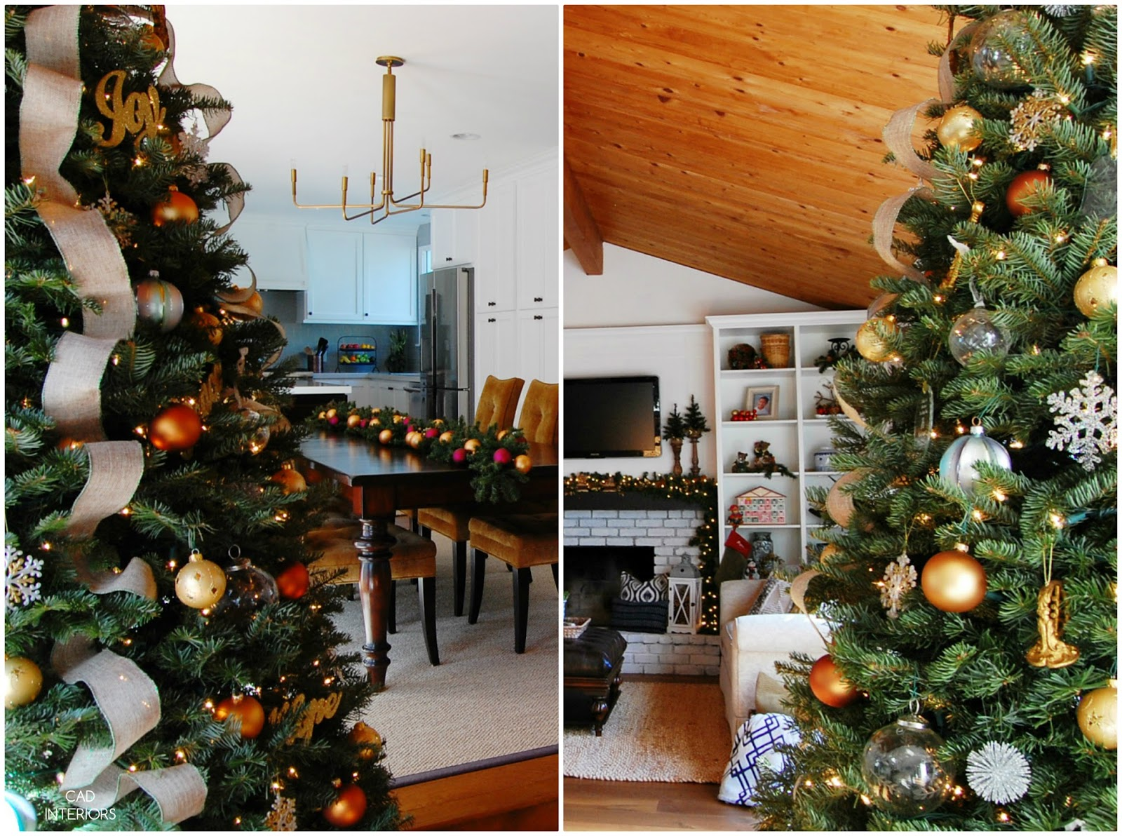 eclectic traditional modern classic Christmas holiday decorating