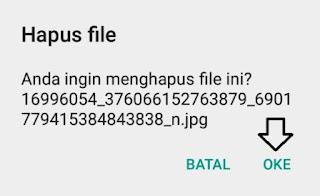 Menghapus file hasil download pada ponsel android