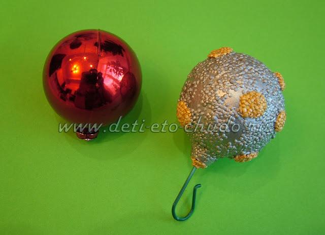 Новогодние игрушки из шарикового пластилина