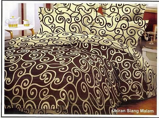 SPREI KATUN BED COVER Motif Ukiran Siang Malam Syalom Store