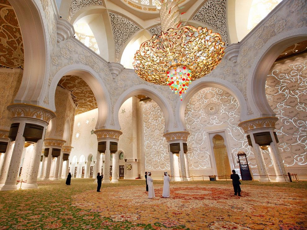 Gambar Interior Masjid Sheikh Zayed Abu Dhabi Beautiful Mosque