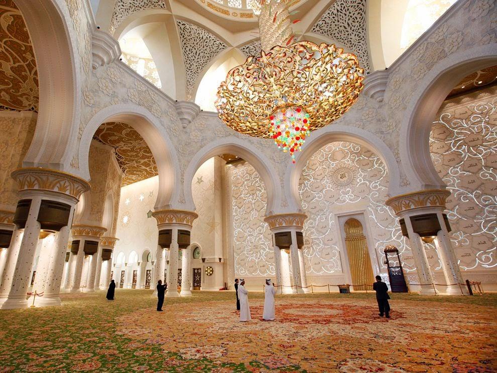 Gambar Interior Masjid Sheikh Zayed Abu Dhabi Beautiful Mosque