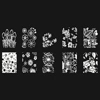 plaquitas de estampacion de flores