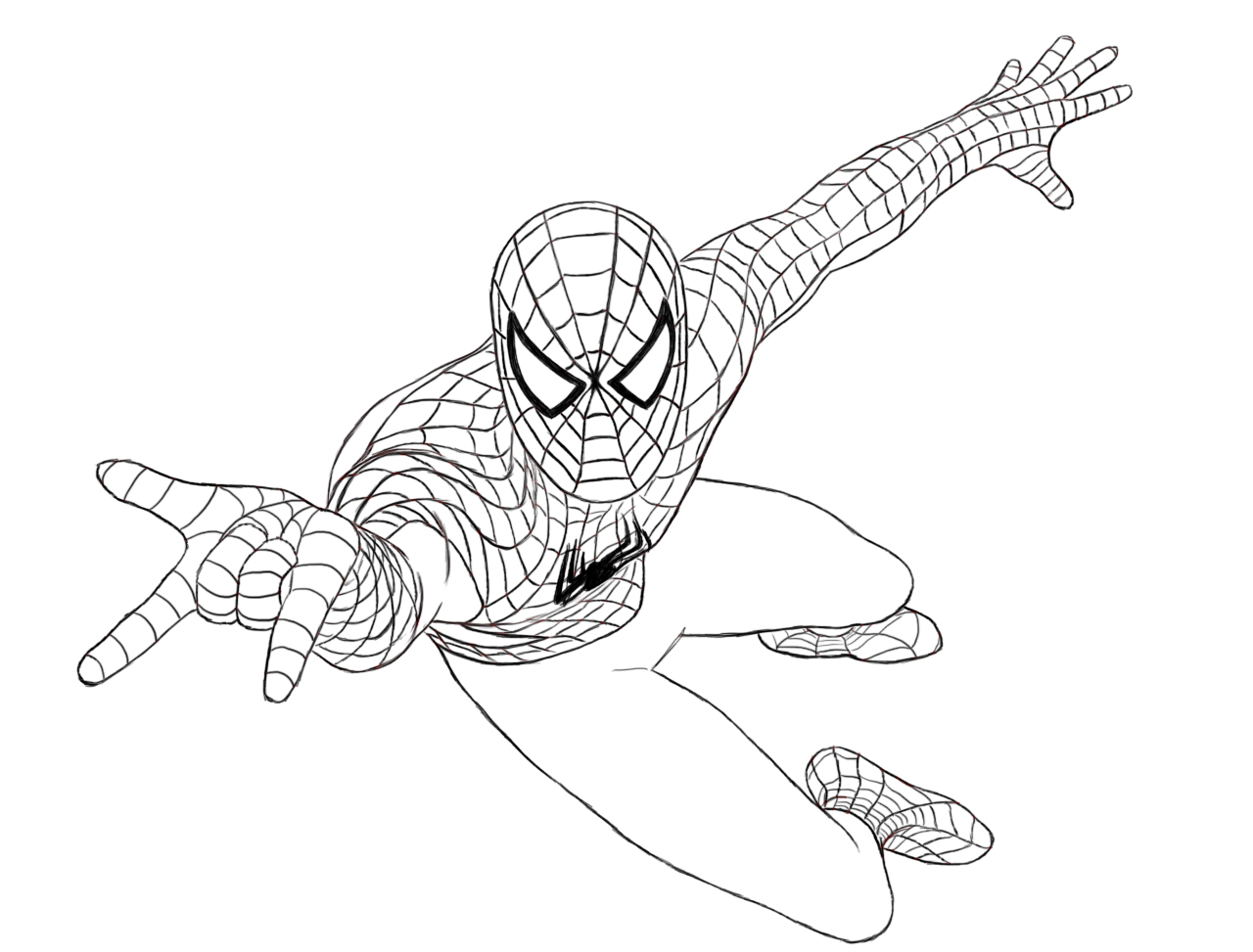 How To Draw Spiderman
