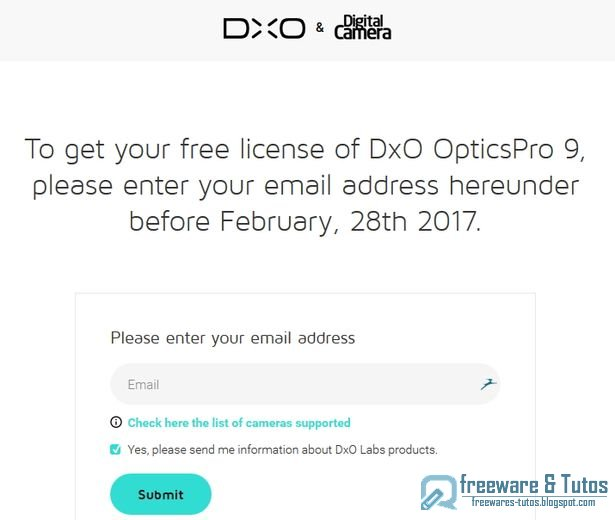 Offre promotionnelle : DxO Optics Pro 9 Elite Edition gratuit !