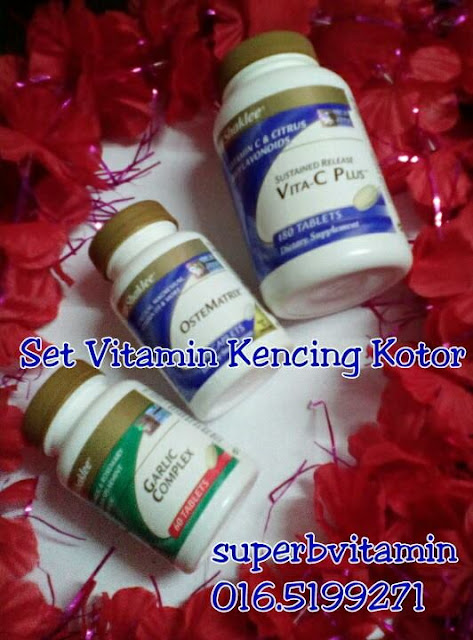 Set vitamin kencing kotor