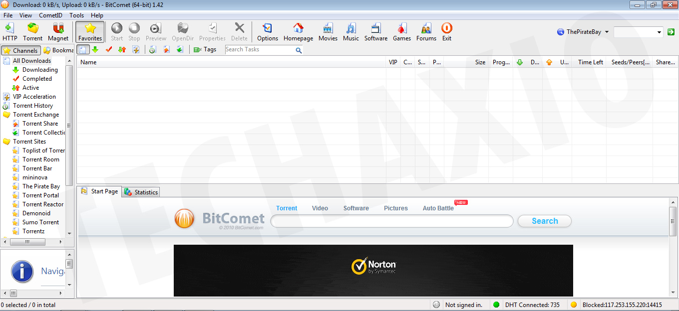 BitComet Download Manager Screenshot