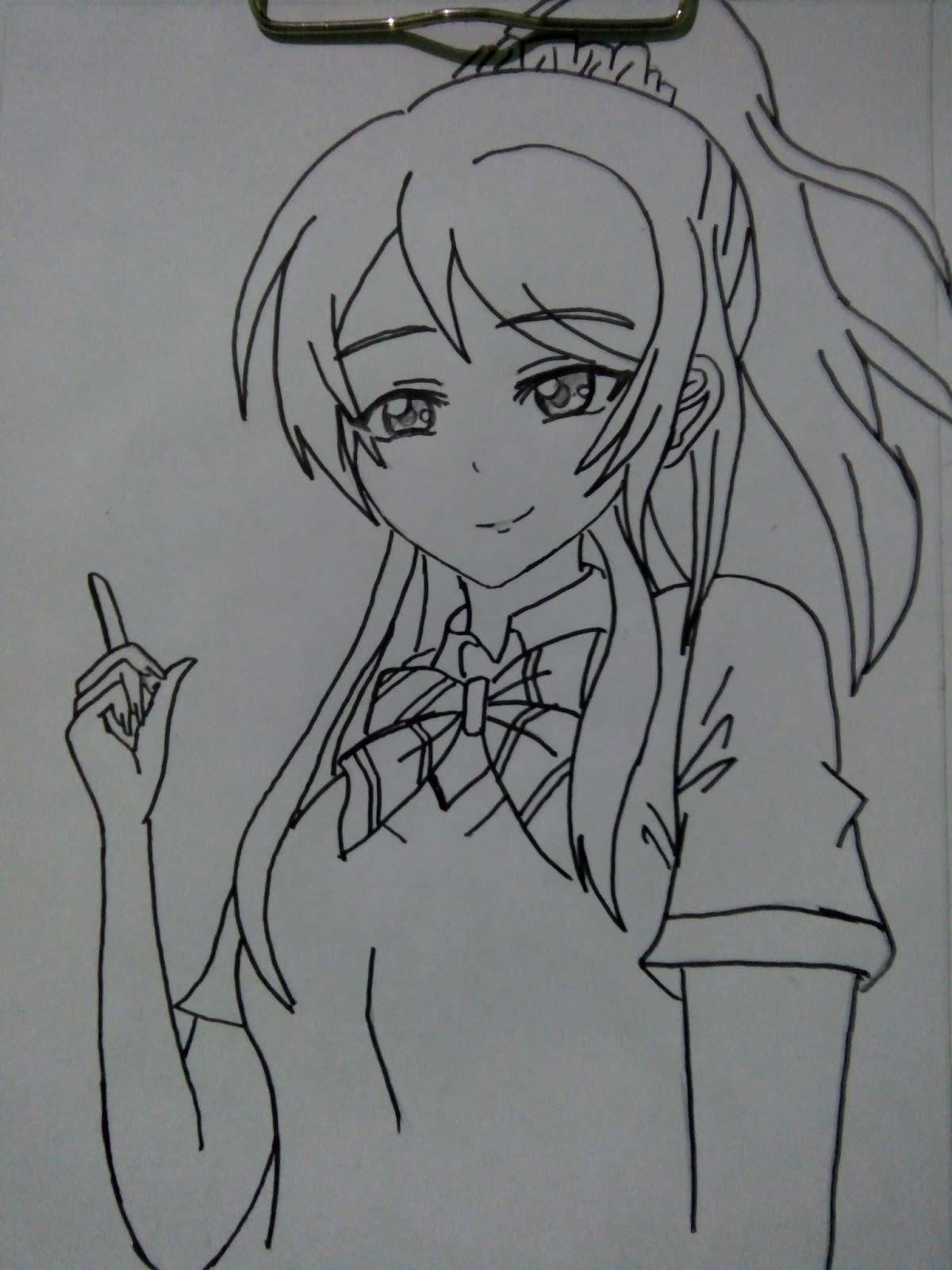 80 Gambar Anime Arsiran Pensil Terbaik