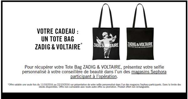 Un Tote Bag ZADIG & VOLTAIRE Gratuit Offert par Sephora !
