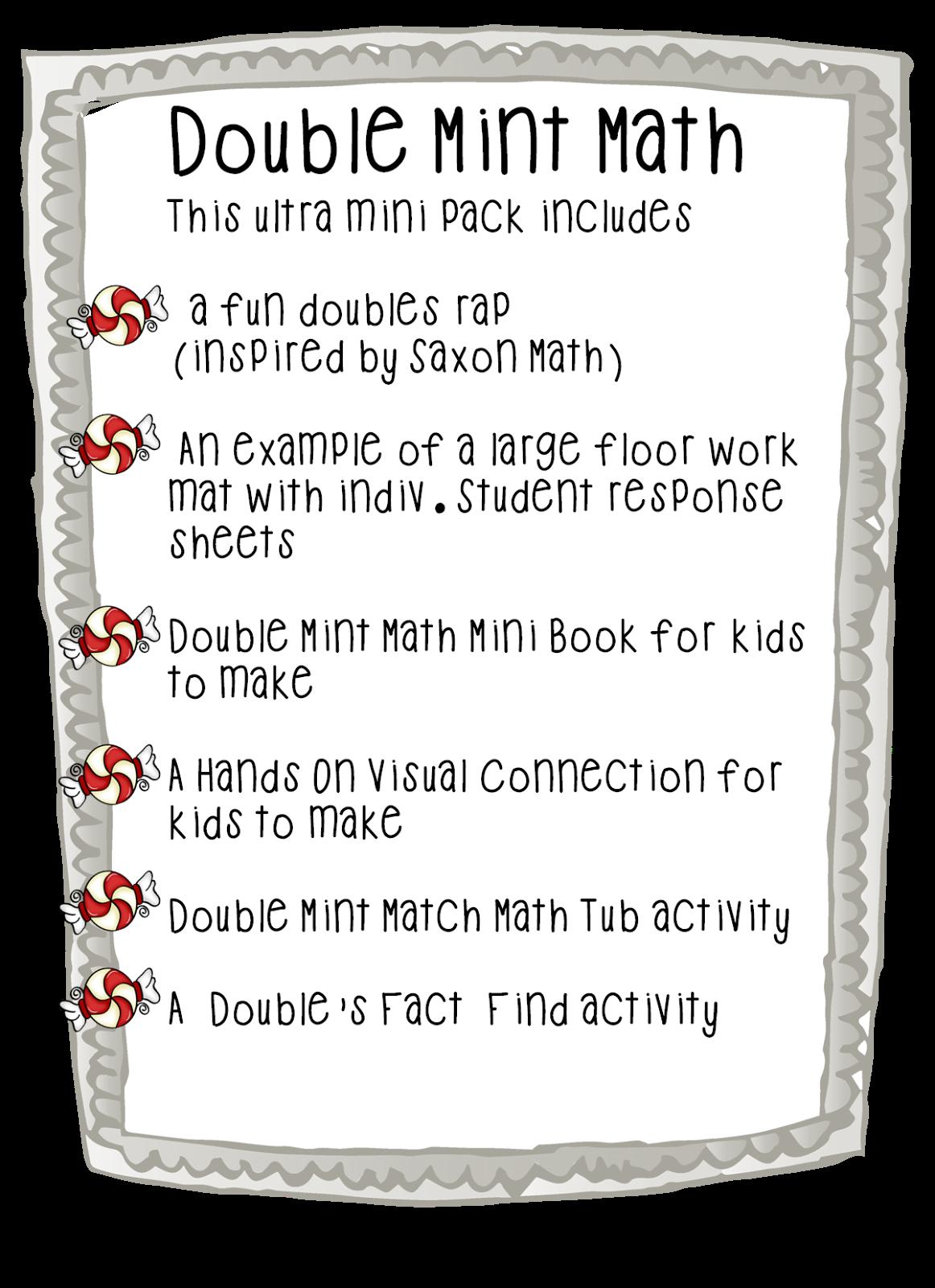 First Grade Wow Double Mint Math